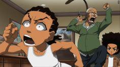 Really Funny The Boondocks Cartoon, Boondocks Comic, Boondocks Drawings, Boondocks Quotes, Cartoon Profile Pics, Cartoon Pics, Cartoon Styles, Dope Cartoon Art, Dope Cartoons