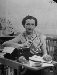 Marine Biologist and Pioneering Environmentalist, Rachel Carson, Author of Silent Spring, US, 1952