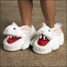 Warn 'em you're on the prowl wearing Monty Python Killer Rabbit Slippers