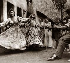 The Real Deal... Roma Dance in Paris  1945 There, that lovely happy face, captures the romance even if the history may not be as kind for them, their spirit here is what can ..dance on within us all.