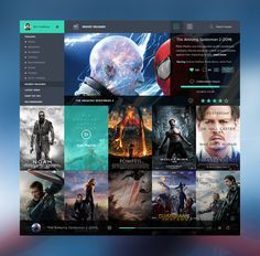 movie app interface website - Google Search