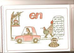 """Ficha para aprender el uso de la preposición """"en""""."""