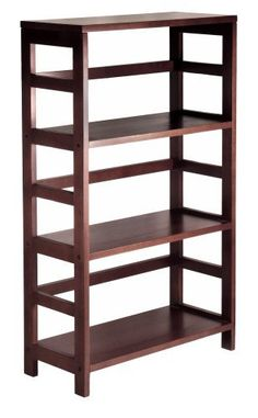 Wide Shelf in Espresso Part No. 92425 by TDM. $87.40. Product Dimensions: 25 in x 11 in x 42 in. Finish: Dark Espresso. Leo Shelf, 3-Tier Wide. Assembly Required: Yes. Its three sections hold the Espresso Large Storage Basket or two Small Storage Baskets perfectly. Mix and match with the other Espresso Storage Shelves, both narrow and wide. Part No. 92425