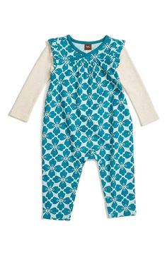 Tea Collection Floral Print Romper (Baby Girls) available at #Nordstrom