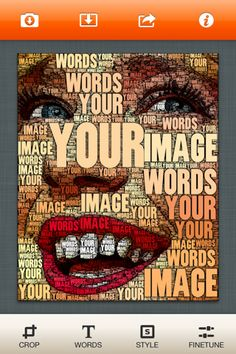WordFoto offers a great way of adding a message within photos, producing some intriguing results