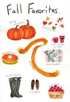 Fall favorites. Watercolors.
