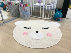 Rug for kids Kids mat Baby carpet Carpet for kids Nursery rug Baby rug Crochet bear rug Crochet carpet Crochet mat Teddy bear kids room rug Crochet Mat, Crochet Carpet, Crochet Dolls, Beige Carpet, Diy Carpet, Carpet Ideas, Stair Carpet, Carpet Trends, Cheap Carpet