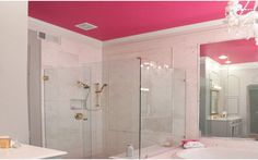 Decorar el cuarto de baño a todo color. Rosa fucsia. | Mil Ideas de Decoración
