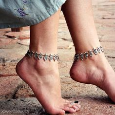Handmade in US, this beautiful tribal anklet unique yet stylish. Sterling silver plated. - Length: adjustable 9-11 inches - Hook closure - Material: Silver plated metal