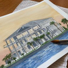 Watercolor house portraits. Perfect personalized gifts. Watercolor Artwork, Watercolor Portraits, House Paintings, Realtor Gifts, Hand Sketch, Cool Lighting, Wedding Locations, Custom Paint, That Way