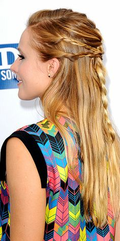 Check out 360 degrees of Kristen Bell's multi-braid half-updo - you could do this at home! http://www.peoplestylewatch.com/people/stylewatch/gallery/0,,20590676,00.html#