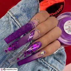 Edgy Nails, Stylish Nails, Trendy Nails, Acrylic Nails Coffin Pink, Long Square Acrylic Nails, Dope Nail Designs, Exotic Nail Designs, Drip Nails, Exotic Nails