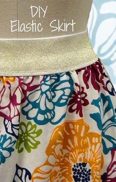 New Crochet Skirt Tutorial Elastic Waist Ideas Sewing Hacks, Sewing Tutorials, Sewing Projects, Sewing Tips, Sewing Ideas, Techniques Couture, Sewing Techniques, Sewing Patterns Girls, Sewing For Kids