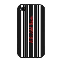 Chick Black Bold Stripe Personali iPhone Snap Case
