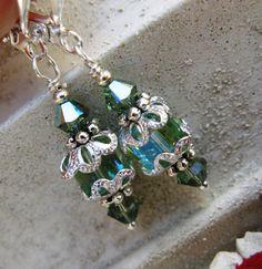 Swarovski Crystal Chrysolite Erinite Dangle by HisJewelsCreations, $14.99