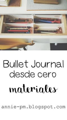 Bullet Journal desde cero: materiales