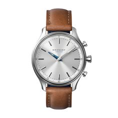 Kronaby Watch - Sekel Stainless Tanned Blue - Front