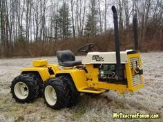 lawn tractor dual wheels   like Coop's CubZilla...