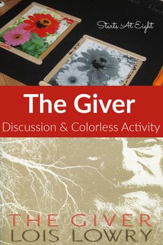 The Giver Book Discussion & Colorless Activity includes questions for discussion, comprehension questions, colorless activity, & movie comparison printable. Kindergarten Homeschool Curriculum, High School Curriculum, The Giver Lois Lowry, High School Writing, Middle School, Teaching High Schools, Comprehension Questions, Reading Comprehension, Alternative Education