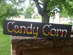 Primitive Candy Corn Halloween Sign for Fall by DAWNSPAINTING