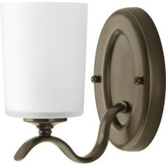 Progress Lighting Inspire Collection Antique Bronze 1-Light Vanity Fixture-P2018-20 at The Home Depot