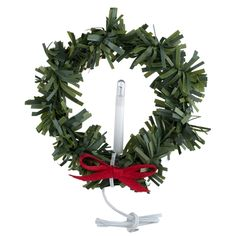 Miniature 12V Lighted Wreath with Candle
