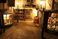 Diagon Alley at night..