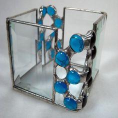 Etsy WonderlandDesigns Zig Zag Blue Candle Holder - Stylehive