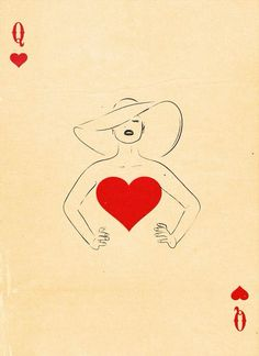 Graphic Design Ideas - Semi-Transformation Playing Cards by Patrik Svensson: The Queen of Hearts Art And Illustration, Character Illustration, Girl Illustrations, Love Heart Illustration, Paper Journal, Playing Cards Art, Playing Card Design, Art Carte, Arte Pop