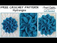 Hydrangea Free Crochet Pattern - Left Handed - YouTube - Maggie's Crochet