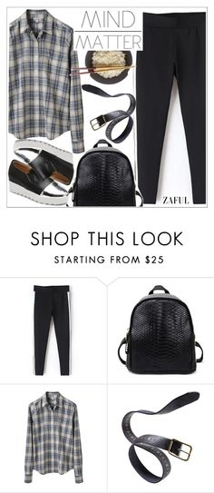 """Zaful"" by teoecar ❤ liked on Polyvore featuring Steven Alan, Børn and Danier"
