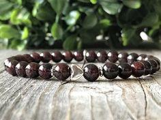 Gemstone bracelet with heart Boho beaded bracelet Ibiza
