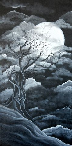 Original+Landscape+Painting+15+x+30++by++by+Angieclementine,+$136.00