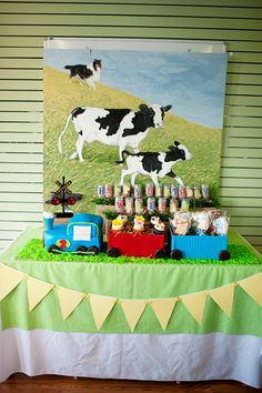 CHOO CHOO Moo Moo Birthday Party - Customized Train and Farm Party Printables - Printable Coordinating Collection. $46.00, via Etsy.
