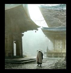 -- After the Rain on the Grounds of Hiyeizan Temple, Kyoto by Okinawa Soba, via Flickr.  Ca.1900-10 Lantern-slide image published by T. TAKAGI of Kobe. Actual photo attributed to KOZABURO TAMAMURA who sold all of his image stock to Takagi.