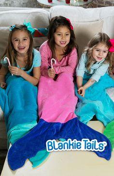 Mermaid Blanket by Blankie Tails - Pink & Periwinkle - Blankie Tails - 5