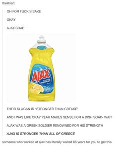 And when this smart individual discovered the biggest pun in the history of cleaning products.