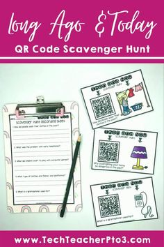 This scavenger hunt activity allows teachers to integrate digital technologies into your classroom in a meaningful way through QR codes link and real photographs of historical items. Questions on the recording sheets aim to move students to higher-order thinking and allow them to apply historical knowledge and understanding. Perfect for distance learning, just give students the QR codes and get them to complete the sheets. #techteacherpto3 #socialstudies #longagoandtoday #longago #history Primary School Curriculum, Primary School Teacher, Higher Order Thinking, Unit Plan, Australian Curriculum, Recording Sheets, Teaching History, Qr Codes, Social Science