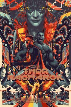 Thor: Ragnarok Screenprint Poster Matt Taylor Mondo Art Marvel Comics Batman   eBay