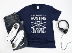 Cool Hunting Season Tshirt gift for the Best Dad on his Birthday, Fathers Day, or Christmas that loves to be outdoors and who loves to hunt buck and fowl. Funny Mens Deer Hunting Shirt. Fun and comfy Outdoorsman Sport Gift for Dad to wear all year long. Shop More Hunting Gifts: