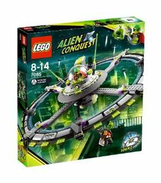 LEGO Alien Conquest Alien Mothership (7065) by LEGO. $53.99. Includes 2 minifigures: reporter and alien commander. Age Range: 8-14 years. 416 pieces. Large UFO has real spinning outer disks. Includes eerie UFO sound brick. Breaking News! The Alien Mothership has appeared in the city skyline, right before the eyes of the intrepid reporter. As the massive UFO spins above his head with eerie alien noises, the reporter watches in horror as the abducting claw heads his way. Wit...