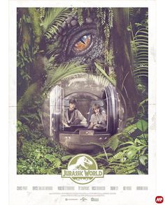 Jurassic World by illustrator Alberto Reyes Francos