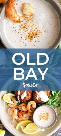 Old Bay Sauce made with classic Old Bay seasoning is a cool, creamy, zippy sauce that you can pair with any kind of seafood! Best Seafood Recipes, Easy Fish Recipes, Lobster Recipes, Scallop Recipes, Easy Meals, Seafood Dishes, Fish And Seafood, Amazing Recipes, Delicious Recipes