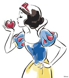 Snow White Sketch by Disney Princess | DecalGirl