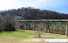 Cordell Hull Bridge goes over the Cumberland River in Carthage, Tennessee - Middle Tennessee