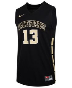 836dfb764ae Nike Men's Wake Forest Demon Deacons Replica Basketball Jersey - Black S