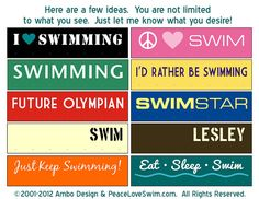 I Love Swimming Ribbon Hanger - Wood Wall Plaque with Hooks for Awards - Customization & Personalization Available via Etsy