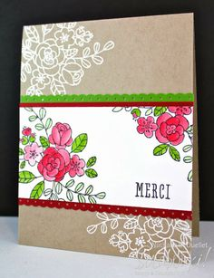 Card with Stampin'Up! products Carte avec les produits Stampin'Up!  www.scrabouki.com