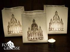 Lampen & Kerzen - Lichttüte - Frauenkirche Dresden (3x) UH14 Sachsen - ein Designerstück von Fotogruesse bei DaWanda