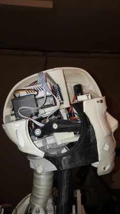 This is a view inside Winslow's head. Winslow is the name of my Inmoov project.